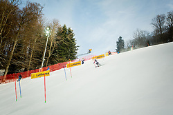"""Course during FIS Alpine Ski World Cup 2016/17 Ladies Slalom race named """"Snow Queen Trophy 2017"""", on January 3, 2017 in Course Crveni Spust at Sljeme hill, Zagreb, Croatia. Photo by Žiga Zupan / Sportida"""