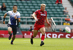 May 26, 2019 - Twickenham, England, United Kingdom - Ben Cambriani of Wales.during The HSBC World Rugby Sevens Series 2019 London 7s Challenge Trophy Quarter Final Match 27 between Wales and Japan at Twickenham on 26 May 2019. (Credit Image: © Action Foto Sport/NurPhoto via ZUMA Press)