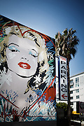 Los Angeles, April 9 2012- Mural of Marilyn Monroe