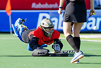 AMSTELVEEN - goalkeeper Rachael Lynch (Austr.) . Semi Final Pro League  women, Argentina-Australia (1-1) . Austr. wns. COPYRIGHT KOEN SUYK