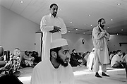 Bradford, in Yorkshire, is home to  the largest Muslim polulatiuon in Britain with some 75,000 lured by employment offered in the mills in the 1950's. Asian Muslims make up 18% of the population and there are sixty mosques in the town.<br /> Lumb Lane, Mosque, Manningham