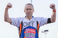 Michel Roux at the Green Start at The Virgin Money London Marathon 2014 on Sunday 13 April 2014<br /> Photo: Neil Turner/Virgin Money London Marathon<br /> media@london-marathon.co.uk