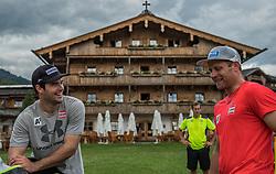 06.06.2017, Bio Hotel Stanglwirt, Going, AUT, OeSV Training, Herren Speed Team, Stanglwirt, Pressetermin, Training, im Bild v.l. Vincent Kriechmayr, Romed Baumann // f.l. Vincent Kriechmayr of Austria and Romed baumann of Austria during a Trainingsession of men's speed Ski Team of Austrian Ski Federation (OeSV) at the Bio Hotel Stanglwirt in Going, Austria on 2017/06/06. EXPA Pictures © 2017, PhotoCredit: EXPA/ Stefan Adelsberger