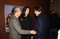Left to right, Singer BRYAN FERRY and MR & MRS FRANCO ZANGRILLI he is the art dealer  at an exhibition of paintings by artist George Condo entitled 'Religious Paintings' held at the Spruth Magers Lee Gallery, 12 Berkeley Street, London W1 on 12th October 2004.<br /><br />NON EXCLUSIVE - WORLD RIGHTS