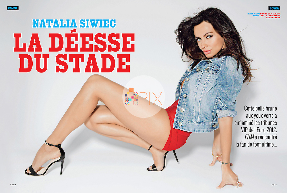 The amazing Natalia Siwiec - also known as Miss Euro 2012 - is the cover/feature model for the August issue of FHM magazine in France.<br /> <br /> Images from our shoot 'Natalia Siwiec', available for worldwide use with approval: http://www.apixsyndication.com/gallery/Natalia-Siwiec/G0000X7NZfqR8eoc/C0000sj8.o8hq5VM