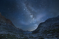 Milky Way over Upper Titcomb Basin, Bridger Wilderness, Wind River Range Wyoming