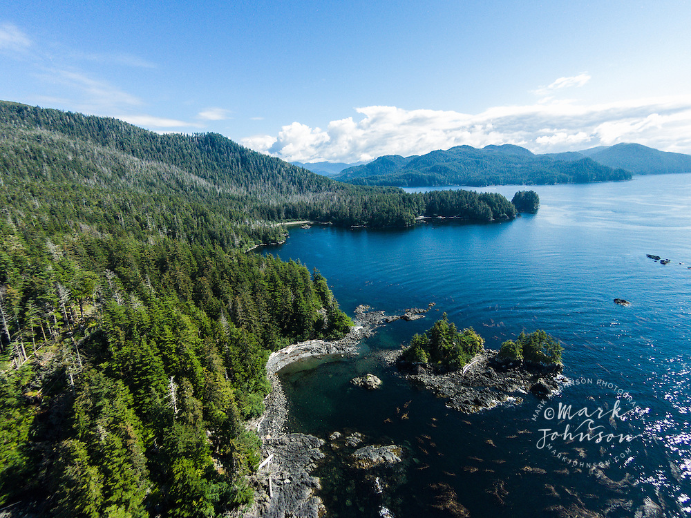 The islands and forests of the Alexander Archipelago, Southeast Alaska, USA