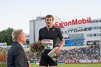 Friidrett<br /> 11. Juni 2015<br /> Exxon Mobil Bislett Games<br /> Christophe Lemaitre , Vinner av 200 meters<br /> Foto: Astrid M. Nordhaug