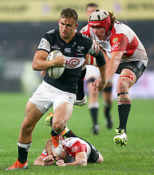 Durban. 20918. Jeremy Ward of the Cell C Sharks during the Currie Cup match between Cell C Sharks and Xerox Golden Lions XV at Jonsson Kings Park Stadium in Durban, South Africa. Picture Leon Lestrade. African News Agency. ( ANA ).