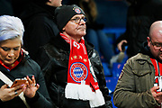Bayern Munich fan ahead of the Champions League match between Chelsea and Bayern Munich at Stamford Bridge, London, England on 25 February 2020.