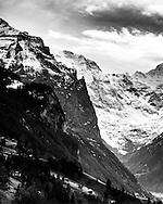 The Jungfrau mountain range, Switzerland