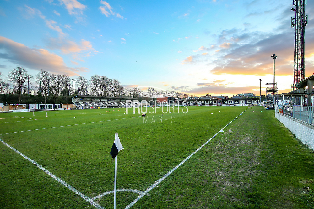 General view of the York Road stadium ahead of the Vanarama National League match between Maidenhead United and Havant & Waterlooville FC at York Road, Maidenhead, United Kingdom on 26 March 2019.