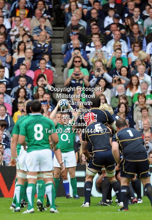 Sean Cronin - Ireland hooker.<br /> Scotland v Ireland, EMC Autumn Test, Murrayfield Stadium, Edinburgh, Scotland, Saturday 6th August 2011.<br /> PLEASE CREDIT ***FOTOSPORT/DAVID GIBSON***