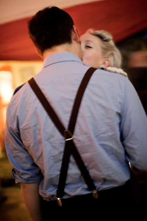 Couple kissing. Dalston, London, UK. 2009