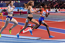 01-03-2018 GBR: World Athletics Indoor, Birmingham<br /> Bij de WK indoor atletiek heeft Sifan Hassan donderdagavond zilver gepakt op de 3000 meter en de Schotse nummer drie Laura Muir het brons