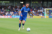 AFC Wimbledon defender Luke O'Neill (2) about to cross the ball during the EFL Sky Bet League 1 match between AFC Wimbledon and Wycombe Wanderers at the Cherry Red Records Stadium, Kingston, England on 31 August 2019.