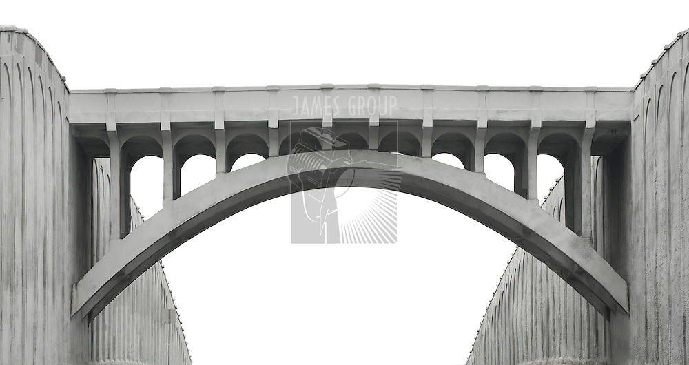 Concrete bridge isolated with a clipping path