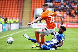 Mark Little of Bristol Rovers tackles James Husband of Blackpool - Mandatory by-line: Robbie Stephenson/JMP - 03/08/2019 - FOOTBALL - Bloomfield Road - Blackpool, England - Blackpool v Bristol Rovers - Sky Bet League One