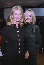 Left to right, LADY THOMPSON and her daughter MRS PIERS PORTMAN, at a party in London on 23rd September 1997.MBL 8