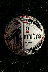 A general view of the new FA Cup Match Ball for the 2018/19 Season at The Hive prior to kick off  - Mandatory by-line: Ryan Hiscott/JMP - 11/11/2018 - FOOTBALL - The Hive - Barnet, England - Barnet v Bristol Rovers - Emirates FA Cup first round proper