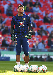 February 24, 2019 - London, England, United Kingdom - Chelsea's Robert Green.during during Carabao Cup Final between Chelsea and Manchester City at Wembley stadium , London, England on 24 Feb 2019. (Credit Image: © Action Foto Sport/NurPhoto via ZUMA Press)