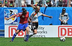20.07.2010, , Augsburg, GER, FIFA U-20 Frauen Worldcup, Frankreich vs Deutschland, im Bild Turid KNAAK (FCR Duisburg #17) ist von Solene BARBANCE (Toulouse FRA #10) auch nicht durch ein Trikotvergehen zu stoppen, EXPA Pictures © 2010, PhotoCredit: EXPA/ nph/  Roth+++++ ATTENTION - OUT OF GER +++++ / SPORTIDA PHOTO AGENCY