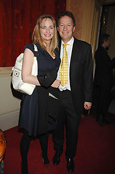 ORLANDO FRASER and his wife CLEMENTINE at the engagement party of Vanessa Neumann and William Cash held at 16 Westbourne Terrace, London W2 on 15th April 2008.<br />