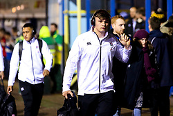 Aaron Hinkley of England U20 arrives at Godlington Road for the Six Nations fixture against Italy U20 - Mandatory by-line: Robbie Stephenson/JMP - 08/03/2019 - RUGBY - Goldington Road - Bedford, England - England U20 v Italy U20 - Six Nations U20