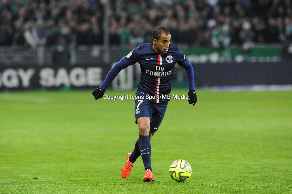 LUCAS - 25.01.2015 - Saint Etienne / PSG - 22eme journee de Ligue1<br /> Photo : Jean Paul Thomas / Icon Sport