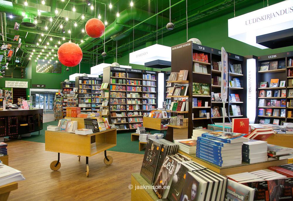 spacious bookstore interior