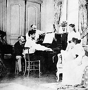 (Achille) Claude Debussy (1862-1919) French composer.