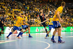 SPG HB vs CPL during handball match between RK Celje Pivovarna Lasko (SLO) and Paris Saint-Germain HB (FRA) in VELUX EHF Champions League 2018/19, on February 24, 2019 in Arena Zlatorog, Celje, Slovenia. Photo by Peter Podobnik / Sportida