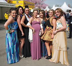 LIVERPOOL, ENGLAND - Friday, April 9, 2010: Race-goes on Ladies' Day during the second day of the Grand National Festival at Aintree Racecourse. (Pic by David Rawcliffe/Propaganda)