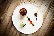 Food photography shot on location in Switzerland for the exclusive Walserhof Hotel and Alpenrösli restaurant in Klosters.