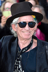 © Licensed to London News Pictures. 04/04/2016. KEITH RICHARDS attends The Rolling Stones Exhibition Private at The Saatchi Gallery. London, UK. Photo credit: Ray Tang/LNP