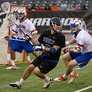April 01,  2012:  Duke midfielder David Lawson (2) looks to pass against Syracuse during the Big City Classi at  Met Life Stadium in East Rutherford, New Jersey . Duke defeated Syracuse 12-10. (Credit Image: © Kostas Lymperopoulos/Cal Sport Media)