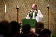Dr. Charles A. Gieschen preaches during chapel in Kramer Chapel at Concordia Theological Seminary on Monday, Jan. 20, 2014, in Fort Wayne, Ind. LCMS Communications/ Erik M. Lunsford