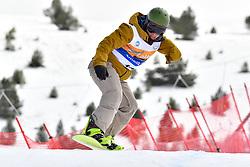 OSA MENDES Xabier, SB-UL, ESP, Banked Slalom at the WPSB_2019 Para Snowboard World Cup, La Molina, Spain