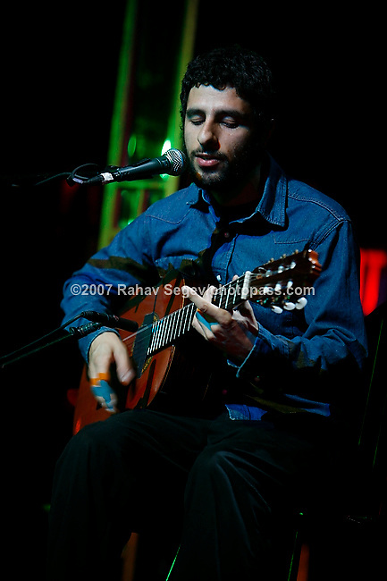 Jose Gonzalez performing at The Speigeltent on August 22, 2007.