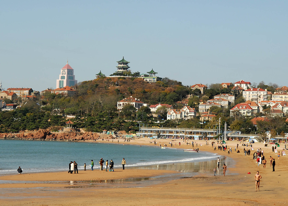 The popular seaside resort of Qingdao attracts hordes of vacationers from Beijing during the hot, sweltering summer months.