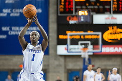 Kentucky forward Batouly Camara shoots two free throws in the final 5 seconds, making one to give UK a 64-63 lead in the second half.<br /> <br /> The University of Kentucky hosted the University of Tennessee, Monday, Jan. 25, 2016 at Memorial Coliseum in Lexington .