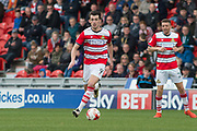 Doncaster Rovers Forward John Marquis (9) in action during the EFL Sky Bet League 2 match between Doncaster Rovers and Blackpool at the Keepmoat Stadium, Doncaster, England on 17 April 2017. Photo by Craig Zadoroznyj.