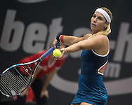 Dominika Cibulkova (SVK) during the semi finals of the WTA Generali Ladies Linz Open at TipsArena, Linz<br /> Picture by EXPA Pictures/Focus Images Ltd 07814482222<br /> 15/10/2016<br /> *** UK &amp; IRELAND ONLY ***<br /> <br /> EXPA-REI-161015-5004.jpg