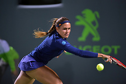 March 23, 2018 - Key Biscayne, Florida, United States Of America - KEY BISCAYNE, FL - MARCH 23: Monica Puig on day 5 of the Miami Open at Crandon Park Tennis Center on March 23, 2018 in Key Biscayne, Florida. ...People:  Monica Puig. (Credit Image: © SMG via ZUMA Wire)