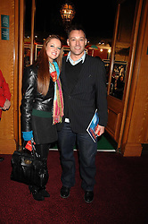 Radio presenter TOBY ANSTIS and STEPHANIE STEWART  at the gala night of Varekai by Cirque du Soleil at The Royal Albert Hall, London on 8th January 2008.<br />