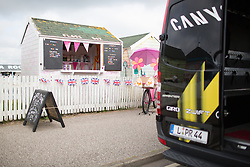 Sweet delights tempts the riders before the start of the Aviva Women's Tour 2016 - Stage 1. A 138.5 km road race from Southwold to Norwich, UK on June 15th 2016.