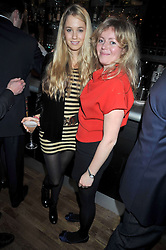 Left to right, FLORENCE BRUDENELL-BRUCE and CATHERINE CAZALET at the opening of the Brompton Bar & Grill, 243 Brompton Road, London SW3 on 11th March 2009.