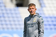 Leeds United midfielder Mateusz Bogusz (44) arrives at the ground during the EFL Sky Bet Championship match between Wigan Athletic and Leeds United at the DW Stadium, Wigan, England on 17 August 2019.
