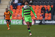 Forest Green Rovers Reuben Reid(26) controls the ball during the EFL Sky Bet League 2 match between Barnet and Forest Green Rovers at The Hive Stadium, London, England on 7 April 2018. Picture by Shane Healey.