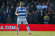 Scorer of two goals, Queens Park Rangers forward Tomer Hemed (16) during the EFL Sky Bet Championship match between Queens Park Rangers and Swansea City at the Loftus Road Stadium, London, England on 13 April 2019.